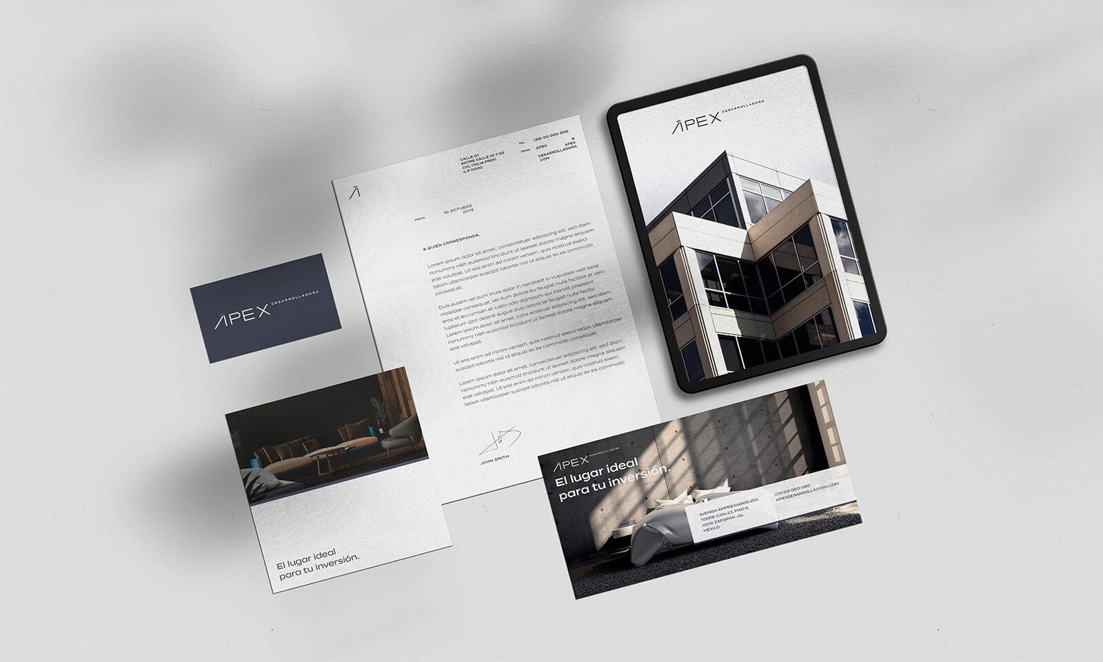 ÁPEX Desarrolladora // Branding