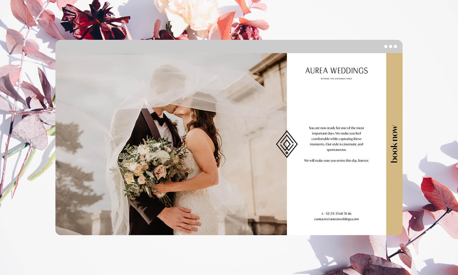 Aurea Weddings // Sección del Sitio Web