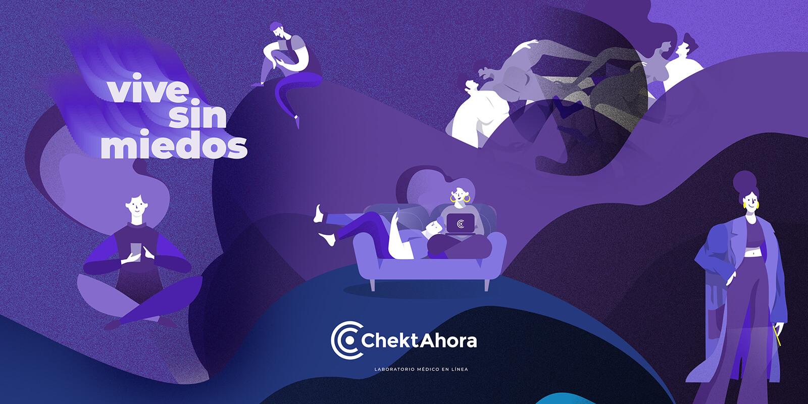 ChektAhora // Advertising, Art Direction and Illustrtion