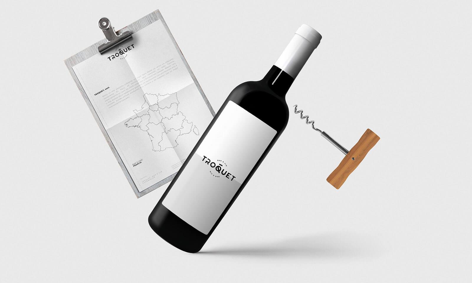 Troquet Bar À Vin // Branding